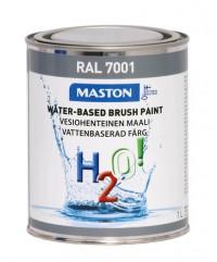 Maali H2O! 1L RAL7001 MASTON - Maalaustarvikkeet - 146901 - 1