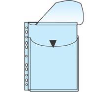 Paljetasku A4 HSK läpällä, PP 0,18mm - Palje- ja patenttitaskut - 133621 - 1