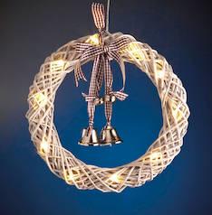 Valokranssi Kantri 10led AIRAM - Jouluun valot,koristeet,tekstiilit - 149731 - 1