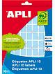 Tarraetiketti 19mm APLI pyöreä - Etiketit-, tulostuskortit ja tarrakalvot - 128301 - 1