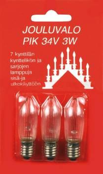 Varalamppu 3W34V Pik E10 AIRAM - Jouluun valot,koristeet,tekstiilit - 149811 - 1