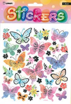 Tarra-arkki isot perhoset - Tarrat ja tarrakirjat - 154281 - 1
