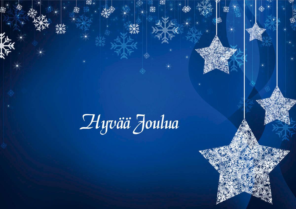 joulukortti Joulukortti, 2 os, Liiketervehdys Sininen tähti, 10 kpl/pss, sis  joulukortti