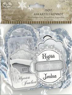 Askartelukuvio iso Joulu sininen - Askartelutarvikkeet - 149012 - 1