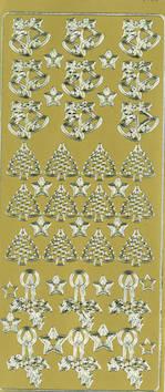 Ääriviivatarra kello/kynttilä/kuusi - Tarrat ja tarrakirjat - 148962 - 1