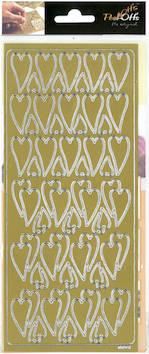 Ääriviivatarra pitkä sydän - Tarrat ja tarrakirjat - 136012 - 1