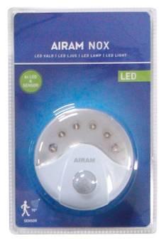 Airam nox 6xled+sensor - Varalamput ja loisteputket - 134582 - 1