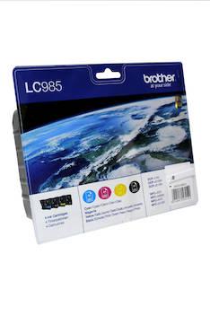 BROTHER LC985 mustesuihku 4 väriä - Brother mustesuihkuväripatruunat - 124592 - 1