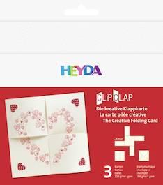 """Clipclap-korttisetti """"kreuz"""", 3 kuorta, korttia valkoinen - Askartelutarvikkeet - 137312 - 1"""