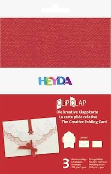 """Clipclap-korttisetti """"wolke"""", 3 kuorta, korttia punainen - Askartelutarvikkeet - 137322 - 1"""