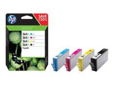 HP 364XL CMYK mustesuihku 4 väriä - HP mustesuihkuväripatruunat - 150612 - 1