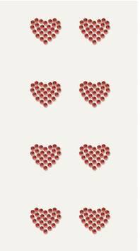 Heart timantti tarra-arkki, punainen - Askartelutarvikkeet - 137232 - 1