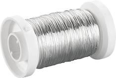 Hopeoitu metallilanka, 0,25mm 50m - Tarrat ja tarrakirjat - 140822 - 1