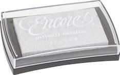 Leimasinvärityyny 10x6cm, silver - Tarrat ja tarrakirjat - 140792 - 1