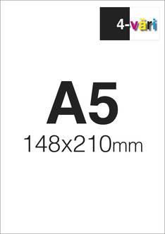 Liimalehtiö A5 4/0 - Painetut liimalehtiöt - 151662 - 1