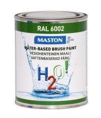 Maali H2O! 1L RAL6002 MASTON - Maalaustarvikkeet - 146902 - 1