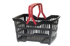 Ostoskori 2-kahvaa muovi - Esitetelineet ja tarvikkeet - 148042 - 1