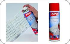 Paineilma palamaton APLI 400 ml - ATK:n puhdistusaineet ja liinat - 119152 - 1