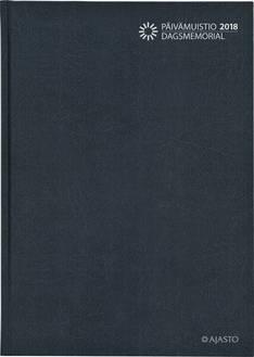 Päivämuistio/dagsmemorial, sidottu, harmaa - Ajasto kalenterit - 152552 - 1