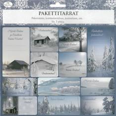 Pakettitarra joulu 3ark/pkt - Tarrat ja tarrakirjat - 143412 - 1