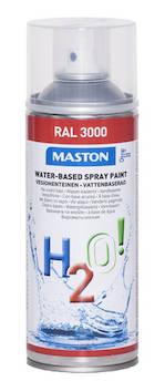 Spraymaali h2o! ral3000 400ml - Maalaustarvikkeet - 136262 - 1