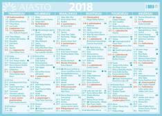 Suuri seinäalmanakka - Ajasto kalenterit - 152662 - 1