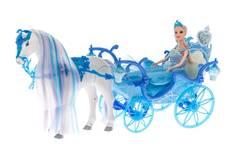 Hevonen, vaunut ja nukke 53cm - Lelut - 153302 - 1