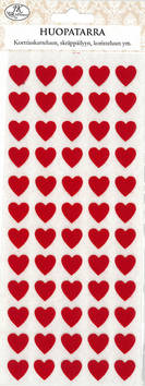 Huopatarra sydän punainen - Tarrat ja tarrakirjat - 153492 - 1