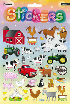 Tarra-arkki maatilan eläimet - Tarrat ja tarrakirjat - 154282 - 1