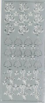 Ääriviivatarra kello/kynttilä/kuusi - Tarrat ja tarrakirjat - 148963 - 1