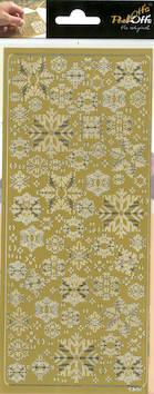 Ääriviivatarra lumihiutale 2 - Tarrat ja tarrakirjat - 143433 - 1