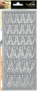 Ääriviivatarra pitkä sydän - Tarrat ja tarrakirjat - 136013 - 1
