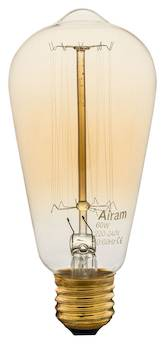Airam 60w e27 antique edison kartiok. lyhtyl. 240v hiililankalamppu - Varalamput ja loisteputket - 134503 - 1