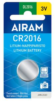Paristo Airam CR2016 3V - Paristot - 139493 - 1