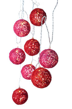 Puuvillapallosarja led 8 Mona AIRAM - Jouluun valot,koristeet,tekstiilit - 144333 - 1