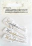 Askartelukuvio hääparille 6kpl/pkt - Tarrat ja tarrakirjat - 146513 - 1