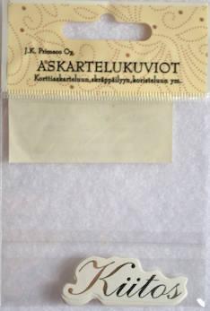 Askartelukuvio kiitos hopea - Askartelutarvikkeet - 136063 - 1