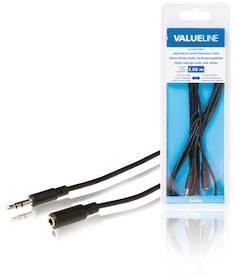Audio jatkokaapeli 3.5mm uros-naaras 2m - Kaapelit ja kaapelikourut, jatkojohdot - 139133 - 1