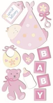 Baby girl 2 -tarra-arkki - Askartelutarvikkeet - 137293 - 1