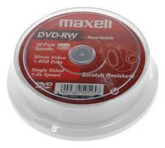 DVD-RW MAXELL 1,4GB/30 min - DVD-levyt - 117593 - 1
