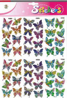 Jättitarra-arkki perhoset - Tarrat ja tarrakirjat - 146523 - 1