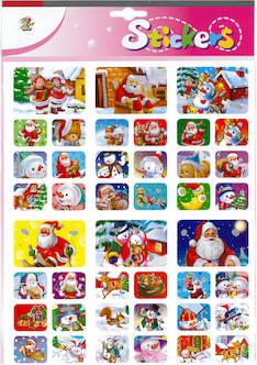 Jättitarra glitter jouluhahmot - Tarrat ja tarrakirjat - 143413 - 1