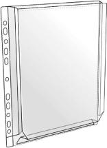 Kansiopaljetasku A4 HSK PVC 0,18 - Palje- ja patenttitaskut - 130213 - 1