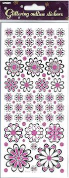 Kimalletarra isot kukat - Tarrat ja tarrakirjat - 135983 - 1