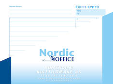 Kuittilomake NORDIC A5/100 vaaka itsej. - Lomakkeet - 111923 - 1