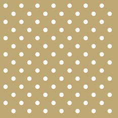 Lautasliina 33x33cm dots gold fsc mix - Servietit ja lautasliinat - 143773 - 1
