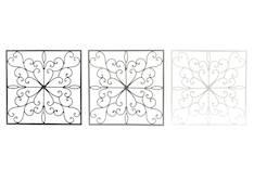 Metallideco neliö 35x35cm - Piensisustaminen - 146813 - 1