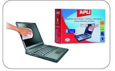 Puhdistusliina APLI kostea/kuiva - ATK:n puhdistusaineet ja liinat - 118233 - 1