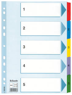 Rekisteri 1-5 A4 ESSELTE Mylar - Rekisterisarjat,muoviset - 117743 - 1