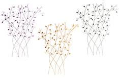 Seinädeco metallinen puu syysvärit lajitelma - Taulut ja kehykset - 135373 - 1